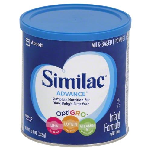 similac baby formula tin
